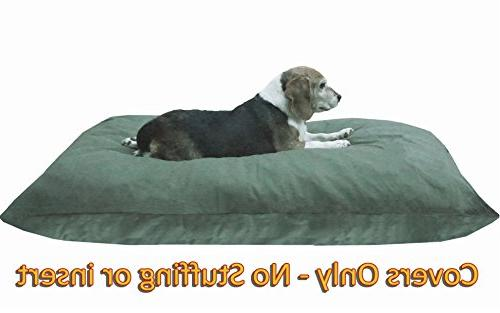 Dogbed4less DIY Pet Duvet + Dog/Cat at Olive Green Color Covers