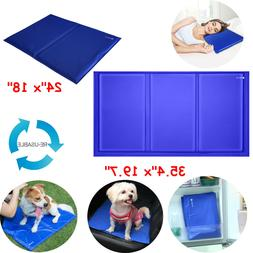 L / XL Dog Cooling Mat Pet Cat Chilly Cool Gel Bed Puppy Hea