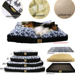 L XL XXL XXXL DOG BED REMOVABLE ZIP COMFY COVER WASHABLE PET