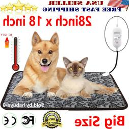 Large Electric Waterproof Pet Heated Warm Pad Puppy Dog Cats
