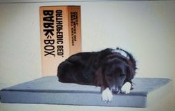 """BarkBox Large Grey 3"""" Thick Solid Orthopedic Memory Foam Lux"""