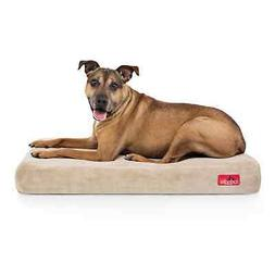 Large Memory Foam Dog Bed Mattress 4 Inch Orthopedic Brown U