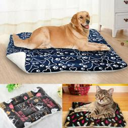 Large Soft Warm Dog Cat Pet Mat Bed Pad Self Heating Rug The