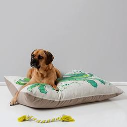 Deny Designs Laura Trevey Seafoam Green Crab Pet Bed, 40 by