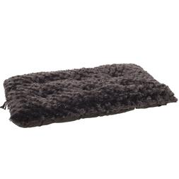 Lavish Cushion Pillow Furry Pet Dog Bed - Chocolate - Small