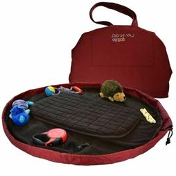 Lay-n-Go Travel Dog Bed  : Maroon & Chocolate, Converts to S