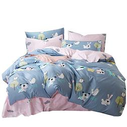 OROA Lightweight Cotton Duvet Cover Sets for Kids Teens Quee