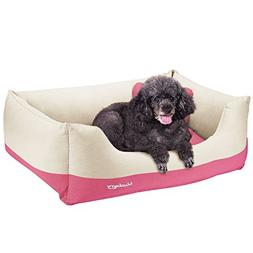 Blueberry Pet Linen Blended Canvas Cuddler Dog Bed, Priyanka