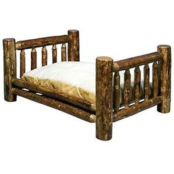 Log Dog Beds for Large Dogs Amish Made Cabin Furniture Raise
