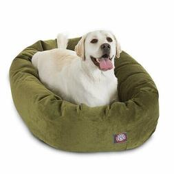 Luxurious Bagel Style Donut Plush Washable Dog Bed - Fern La