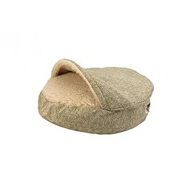 Snoozer Luxury Orthopedic Cozy Cave Pet Bed, Small, Shona Gr