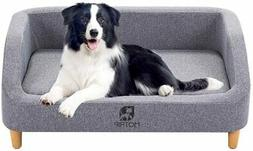 Luxury Dog Sofa Couch Bed Soft Pet Chair House Washable Seat