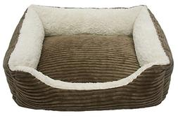 Iconic Pet Luxury Lounge Pet Bed, Small, Dark Moss
