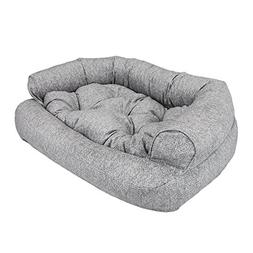 "Snoozer Luxury Overstuffed Pet Sofa in Palmer Dove, 36"" L x"