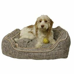 Luxury Slate & Oatmeal Square Dog Bed Bedding  20 inch