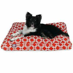 Majestic Pet Red Links Rectangle Dog Bed
