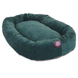 52 inch Marine Villa Collection Micro Velvet Bagel Dog Bed B
