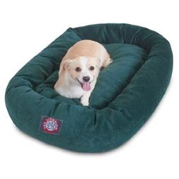 32 inch Marine Villa Collection Micro Velvet Bagel Dog Bed B