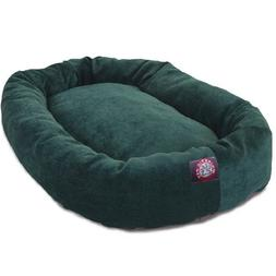 40 inch Marine Villa Collection Micro Velvet Bagel Dog Bed B