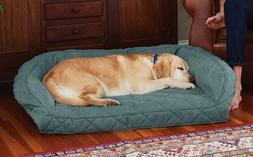 ORVIS MEMORY FOAM BOLSTER DOG BED FOR  MEDIUM DOGS UP TO 40-