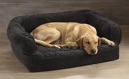 Orvis Memory Foam Couch Dog Bed/Large Dogs 60-90 Lbs, Slate,