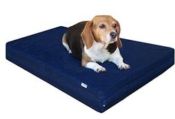 Dogbed4less Small Medium Gel Memory Foam Dog Bed, Durable Bl