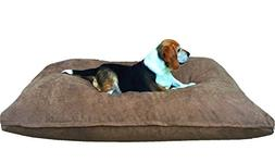Dogbed4less Large Memory Foam Dog Bed Pillow with Orthopedic