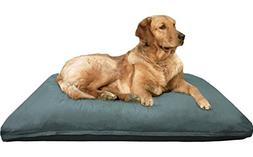 Dogbed4less Jumbo Extra Large Memory Foam Dog Bed Pillow wit