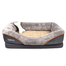 Memory Foam Dog Bed Small Orthopedic Dog Bed Sofa with Remov