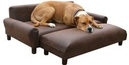 "ComfortMax Memory Foam Orthopedic Dog Bed Sofa 39"" x 47"" Ext"