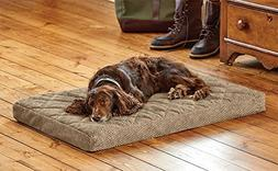 Orvis Memory Foam Platform Dog Bed/Large Dogs 60-90 Lbs, Bro