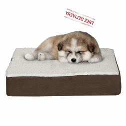 Orthopedic Dog Bed Memory Foam Removable Cover Sherpa Top Co