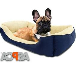 ASPCA Microtech Dog Bed, for Small to Medium Pets Blue