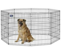 MidWest Beds & Equipment Foldable Metal Exercise Pen Pet Pla