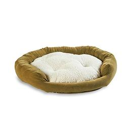 Happy Hounds Murphy Donut Small 24-Inch Dog Bed, Moss