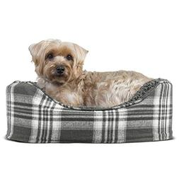 Furhaven Pet NAP Oval Lounger Bed for Dog or Cat Smoke Gray