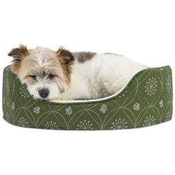 Furhaven Pet NAP Oval Lounger Bed for Dog or Cat Jade Green