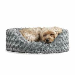 FurHaven Pet Dog Bed | Oval Ultra Plush Pet Bed for Dogs & C