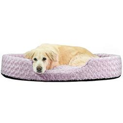 Furhaven Pet NAP Oval Ultra Plush Bed for Dog or Cat, Jumbo,