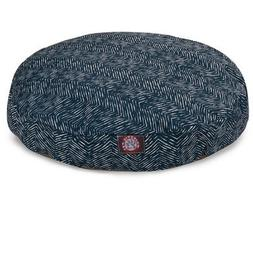 navy blue native round indoor