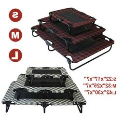 New Elevated Dog Bed Portable Raised Pet Cot For Indoor Outd