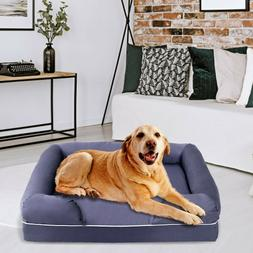 New Extra Large Comfortable Solid Memory Foam Pet Dog Sofa B