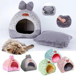 New Fashion Striped Removable Cover Mat Dog House Dog Beds F
