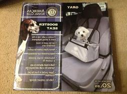 New American Kennel Club Pet Booster Seat Dog Carrier, gray,