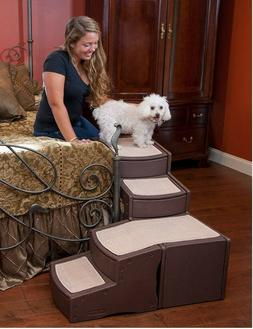 NEW Pet Gear Easy Steps Dog Cat Bed Stair Ladder with Storag