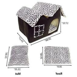 New Soft Warm Cotton Pet Dog Cat Bed House Kennel Cushion Ba