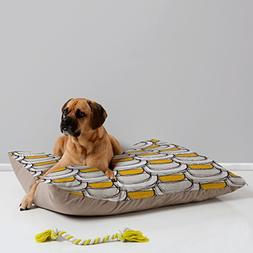 Deny Designs Njeri Designs Scallops Pet Bed, 40 by 30-Inch