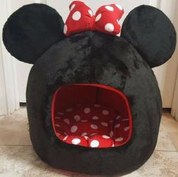 """NWOT Disney Minnie Mouse Dog Cat Pet Bed Dome House 16""""x16""""x"""