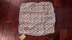 NWT Jax and Bones Dog Bedding Cover Square Cotton Blend Taup