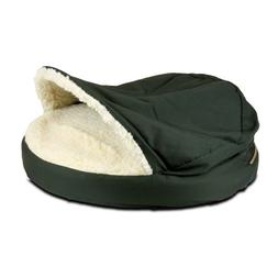 Snoozer Orthopedic Cozy Cave Pet Bed, Small, Olive